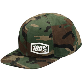 100% Machine Snapback, camo black/green